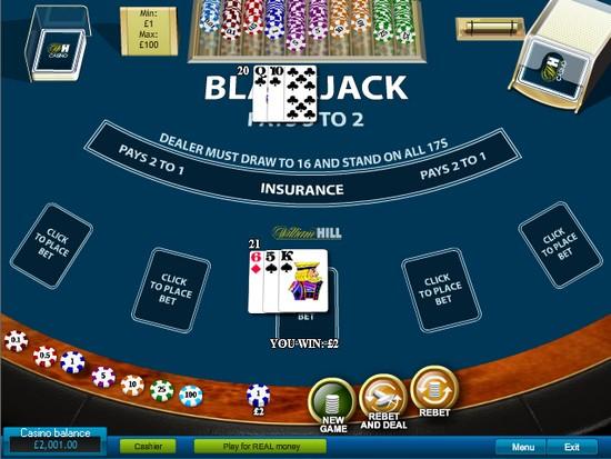 PocketWin Blackjack Table Online