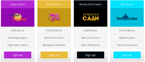 best UK online slot casino offers
