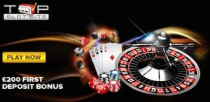 200+ top slots and table games