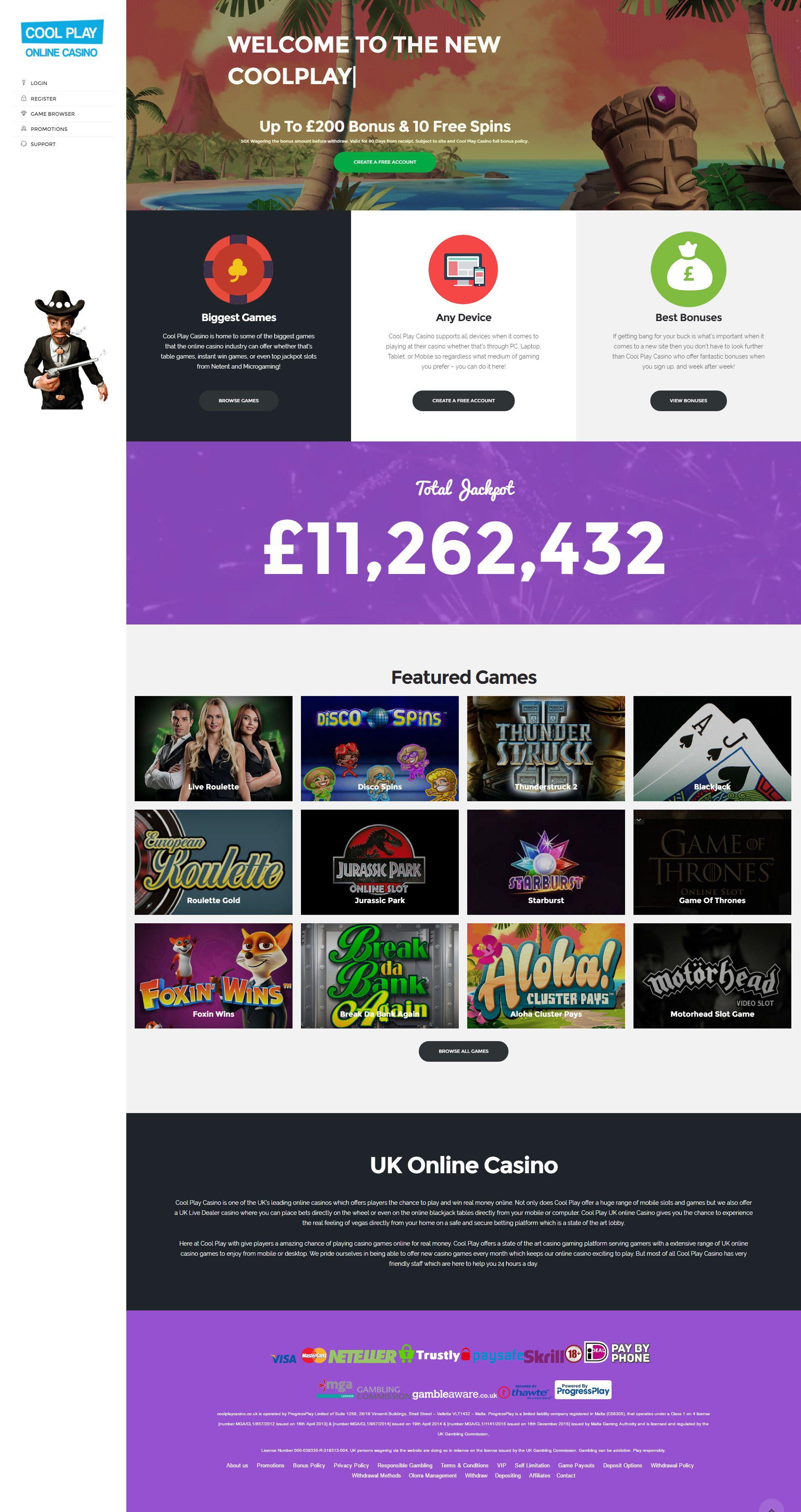 Cool Play Casino | Best Casino Online | Claim 100% Deposit