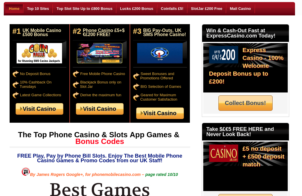 Mobile casino free play