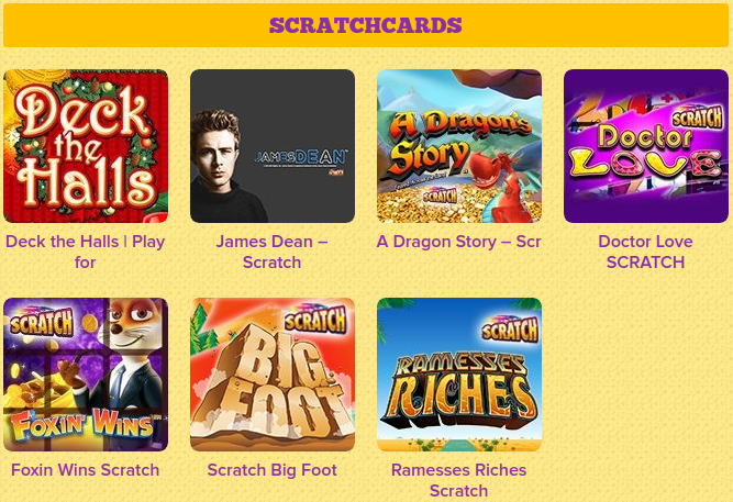 online slots and scratchcards